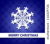 blue christmas paper background   Shutterstock .eps vector #116329726
