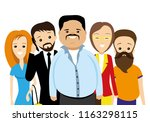group of people on a white... | Shutterstock .eps vector #1163298115
