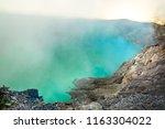 aerial view of ijen volcano...   Shutterstock . vector #1163304022