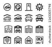 garage icon set | Shutterstock .eps vector #1163305798