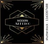 beautiful modern art deco cards ... | Shutterstock .eps vector #1163307688