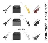 electric guitar  loudspeaker ... | Shutterstock .eps vector #1163314045