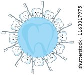 round sign with teeth and... | Shutterstock .eps vector #1163317975