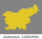 map of slovenia | Shutterstock .eps vector #1163319202