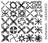 sign like doodles based grid... | Shutterstock .eps vector #1163326522