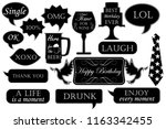 photo booth props for birthdays.... | Shutterstock .eps vector #1163342455