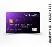 luxuriouscredit card template... | Shutterstock .eps vector #1163346835