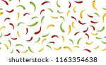 seamless of chilli peppers on... | Shutterstock .eps vector #1163354638