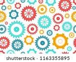 gears seamless pattern. bright... | Shutterstock .eps vector #1163355895
