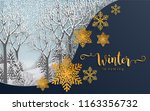 merry christmas greetings and...   Shutterstock .eps vector #1163356732