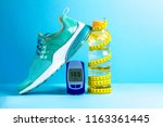 concept of a healthy lifestyle. ... | Shutterstock . vector #1163361445