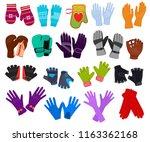 glove vector woolen xmas... | Shutterstock .eps vector #1163362168