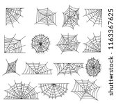 spider web set. vector. | Shutterstock .eps vector #1163367625