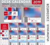 desk calendar 2019  desktop... | Shutterstock .eps vector #1163368528