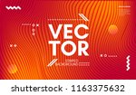 wave lines. abstract geometric... | Shutterstock .eps vector #1163375632
