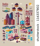 isometric city info graphic... | Shutterstock .eps vector #116337802