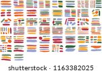 collection of hand drawn... | Shutterstock .eps vector #1163382025