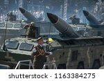 august 24  2018. kyiv  ukraine. ...   Shutterstock . vector #1163384275