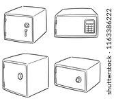 vector set of safe | Shutterstock .eps vector #1163386222