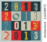 colorful retro vintage 2013 new ... | Shutterstock .eps vector #116338972