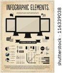 retro vintage vector set of... | Shutterstock .eps vector #116339038