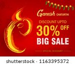 ganesh chaturthi big sale flyer ... | Shutterstock .eps vector #1163395372