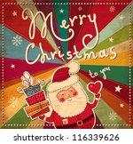vintage christmas card | Shutterstock .eps vector #116339626