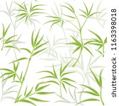 pattern with green bamboo on a... | Shutterstock .eps vector #1163398018