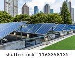 solar and modern city skyline  | Shutterstock . vector #1163398135