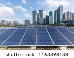 solar and modern city skyline  | Shutterstock . vector #1163398138