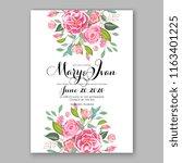 floral background for wedding... | Shutterstock .eps vector #1163401225