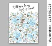 floral background for wedding...   Shutterstock .eps vector #1163401228