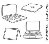 vector set of laptop | Shutterstock .eps vector #1163412988
