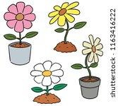 vector set of flower | Shutterstock .eps vector #1163416222
