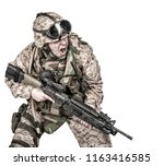studio shoot of modern infantry ... | Shutterstock . vector #1163416585