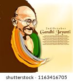 abstract for gandhi jayanti is... | Shutterstock .eps vector #1163416705