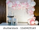 photo wall  wedding decoration... | Shutterstock . vector #1163425165