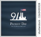 patriot day usa never forget 9... | Shutterstock .eps vector #1163430328
