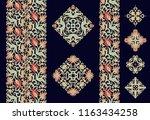flourish   paisley golden... | Shutterstock .eps vector #1163434258