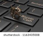 3d render of computer keyboard... | Shutterstock . vector #1163435008