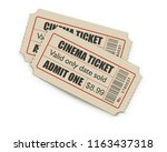 two cinema year off tickets... | Shutterstock .eps vector #1163437318