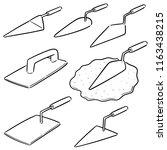 vector set of trowel | Shutterstock .eps vector #1163438215
