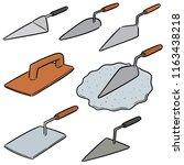 vector set of trowel | Shutterstock .eps vector #1163438218
