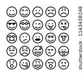 emoticon icon set. perfect for... | Shutterstock .eps vector #1163438248