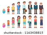 people in different ages ... | Shutterstock .eps vector #1163438815