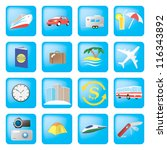 set of detailed travel icons | Shutterstock .eps vector #116343892