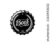 craft beer vintage emblem for... | Shutterstock .eps vector #1163453632