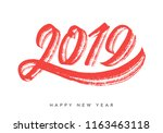 2019. happy new year. greeting... | Shutterstock .eps vector #1163463118