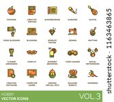 hobby vector icons. painting ... | Shutterstock .eps vector #1163463865