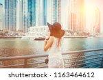 happy beautiful unrecognizable... | Shutterstock . vector #1163464612